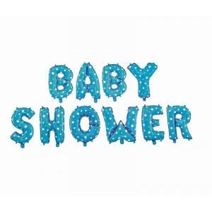 Blue Baby Shower Foil Letter Balloons 17 inch