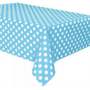 Light Blue Dotted Table Cover
