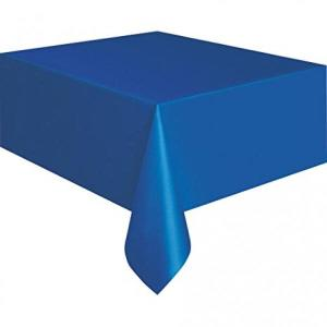 Royal Blue Plastic Table Cover 135cm x 270cm