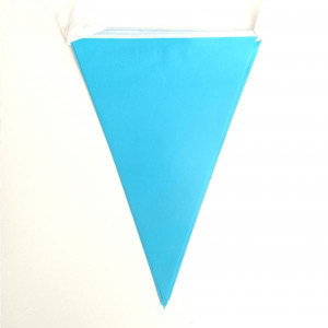 Sky Blue Paper Flag Bunting