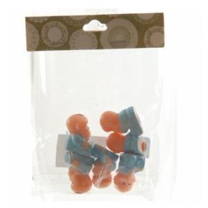 Plastic Babies Blue 2.5cm (6pc)