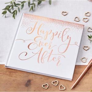 Beautiful Botanics Rose Gold Happily Ever After Guest Book