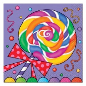 Candy Party Beverage Napkins (16)