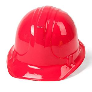 Construction Helmet Soft Plastic RED