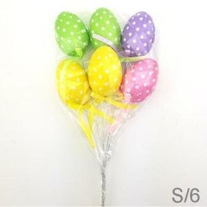 Dotted Easter Eggs On Stick (6)