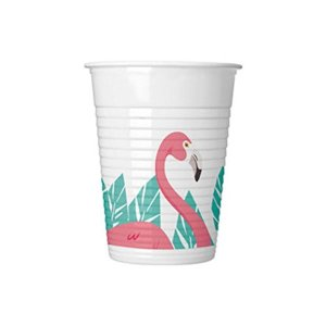 Flamingo Fun Plastic Cups (8)