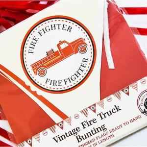 Fire Truck Vintage Paper Bunting