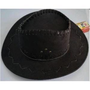 Cowboy Hat Black Leather