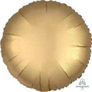 Satin Luxe Gold Sateen Circle Foil Balloon 18inch