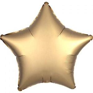 Satin Luxe Gold Sateen Star Foil Balloon 18inch