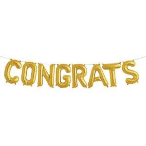 Congrats Gold Foil Letter Balloons 16 inch