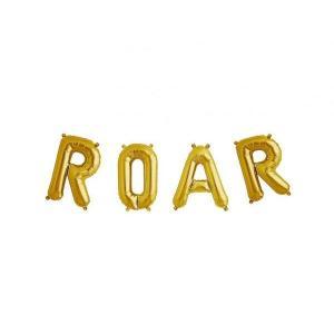 ROAR Gold Foil Balloons 43cm