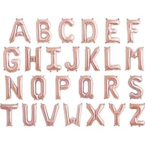 "Custom Rose Gold Foil Letter Balloons 17""  EACH"