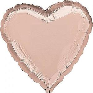Rose Gold Foil Heart Balloon 18 inch