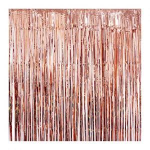 Rose Gold Foil Fringe Backdrop