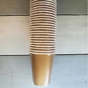 Gold Metallic Paper Cups (24)