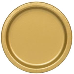 Gold Paper Plates Large (8)