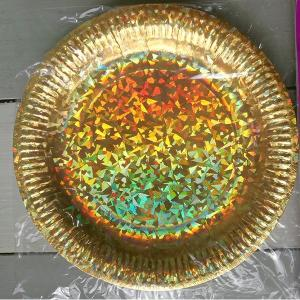 Gold Holographic Paper Plates (6)