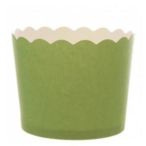 Apple Green Matt Baking Cup (25)