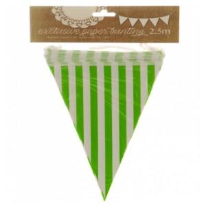 Apple Green Striped Bunting