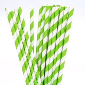 Lime Green Party Straws (25)