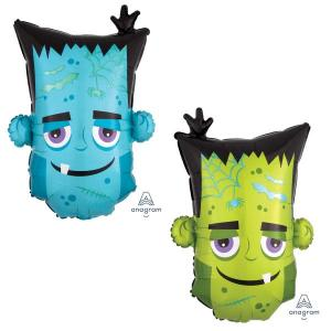 Halloween Monster Head Supershape Foil Balloon