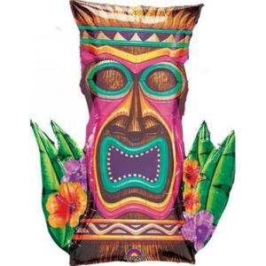 Luau Tiki Time Foil Balloon Supershape