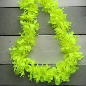 Luau Flower Garland Neon Yellow