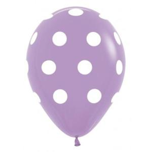 Lavender Dotted Balloons (5)
