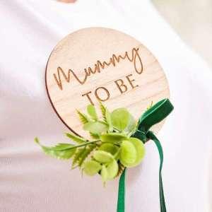 Botanical Baby Mummy To Be Badge