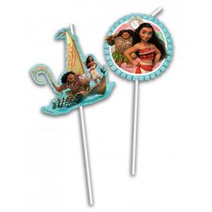 Moana Party Straws (6)
