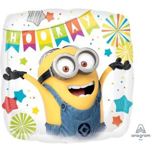 Minion Hooray 2 Sided Foil balloon 18 Inch