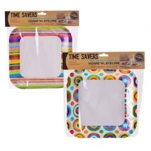 Mexican Striped Design Square Paper Plates (10)