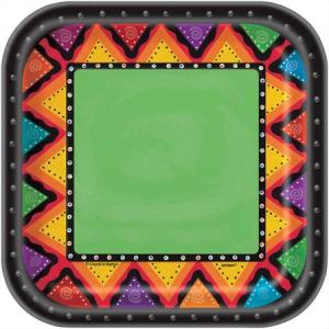 Mexican Fiestivity Dessert Plates Square (10)