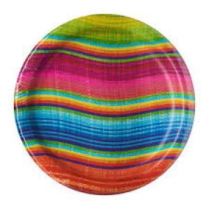Mexican Serape Plates (8)
