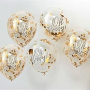 Oh Baby Confetti Balloons Gold (5)