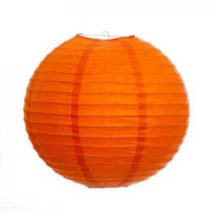 Orange Wired Lantern 30cm