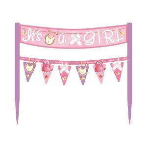 Pink Clothesline Cake Bunting