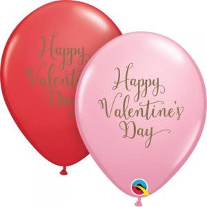 Valentines Script Pink and Red Balloons (10)