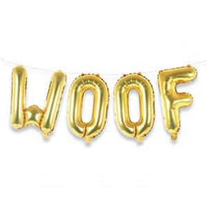 WOOF Gold Foil Letters 17 inch