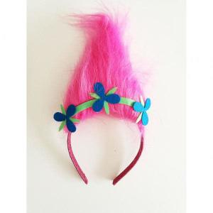 Trolls Poppy Pink Fur Aliceband