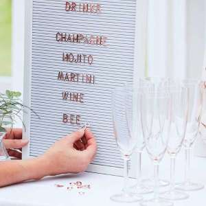Botanical Wedding White Pegboard