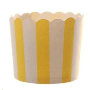Yellow Striped Baking Cup (25)