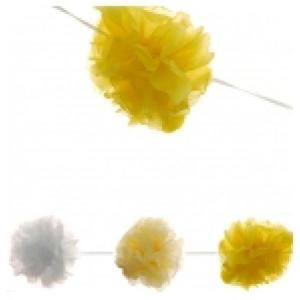 Yellow Garland Pom Poms
