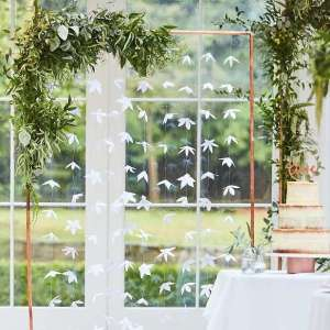 Botanical Wedding White Origami Flower Backdrop