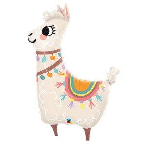 Llama Loveable Super Shape Foil Balloon 45 inch