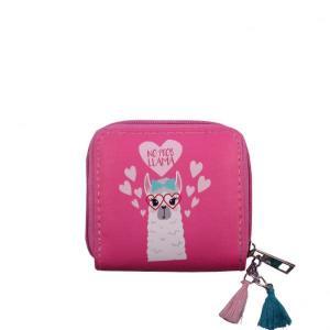 Llama Pink Tassel Wallet