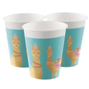 Loveable Llama Paper Cups (8)