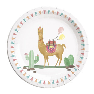 Loveable Llama Paper Plates (8)