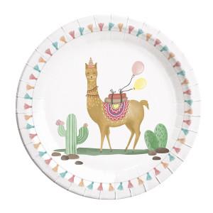 Loveable Llama Paper Plates (8)
